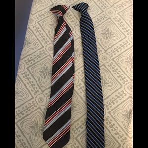 Boys Clip-on Ties Lot of 2